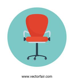 Isolated office chair vector design
