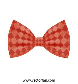 Isolated male red bowtie vector design