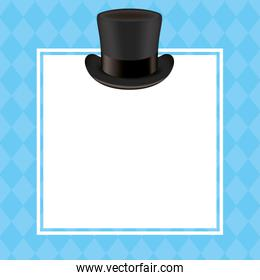 Hat with frame of fathers day vector design