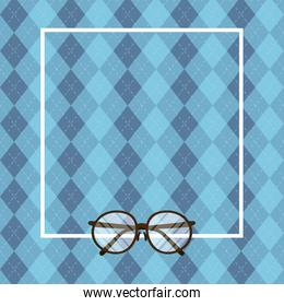 glasses with frame of fathers day vector design
