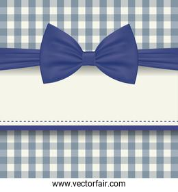 blue bowtie with frame of fathers day vector design