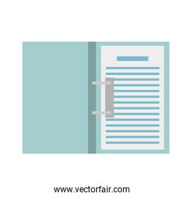 Isolated document paper vector design