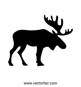 Isolated reindeer silhouette vector design