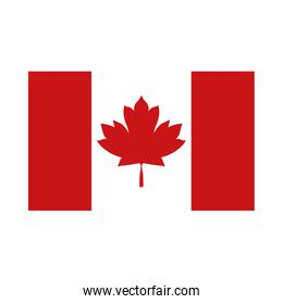 Canadian flag of happy canada day vector design