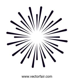 Isolated celebration firework vector design