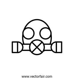 gas protective mask icon, line style