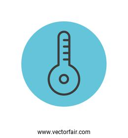 thermometer icon image, block line style