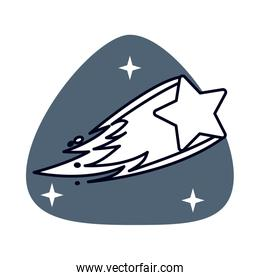 Shooting Star space isolated icon
