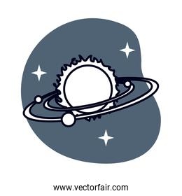 space planets system solar isolated icon