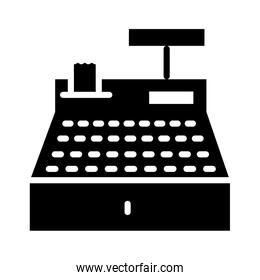 cash register icon, silhouette style