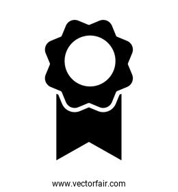 medal icon image, silhouette style