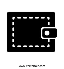 wallet icon image, silhouette style