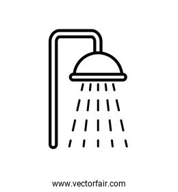 shower faucet icon, line style