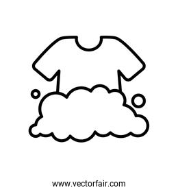 soapy water and tshirt icon, line style