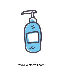 Isolated soap dispenser fill style icon vector design