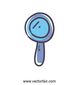 Isolated lupe fill style icon vector design