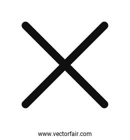 Isolated x fill style icon vector design