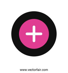 Tik tok add for create video fill style icon vector design