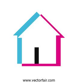 Isolated house lighten style icon vector design