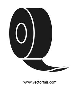 roll of tape icon, silhouette style