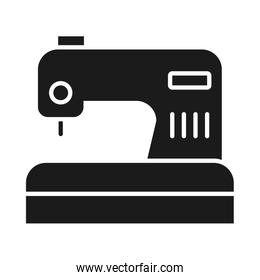 sewing machine icon, silhouette style