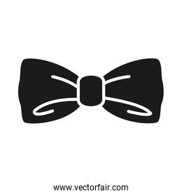 bow tie icon, silhouette style
