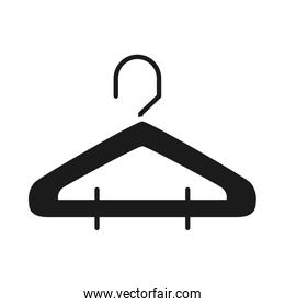 clothes hanger icon, silhouette style