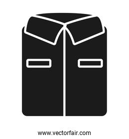 bent shirt icon, silhouette style