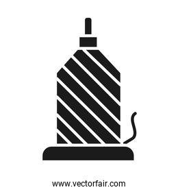 sewing machine concept, spool pin icon, silhouette style