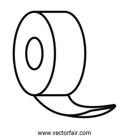 roll of tape icon, line style