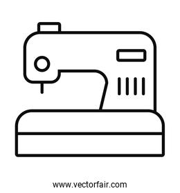sewing machine icon, line style