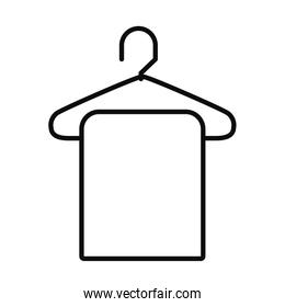 towel on a hanger icon, line style