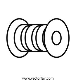 sewing thread icon, line style