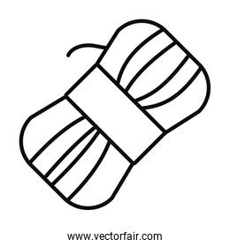roll of yarn icon, line style