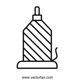 sewing machine, spool pin icon, silhouette style