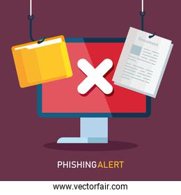 data phishing hacking online scam concept, with computer