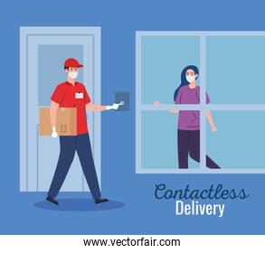 safe contactless delivery courier to home by covid 19