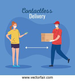 safe contactless delivery courier to house by covid 19