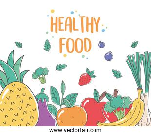 healthy food nutrition organic fresh fruit and vegetables diet meal