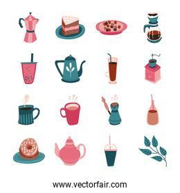 bundle of coffee and tea free form style icon