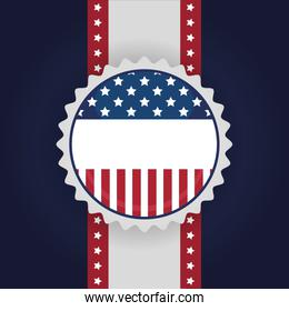 Usa seal stamp of 4th july vector design