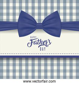 Frame with bowtie of fathers day vector design