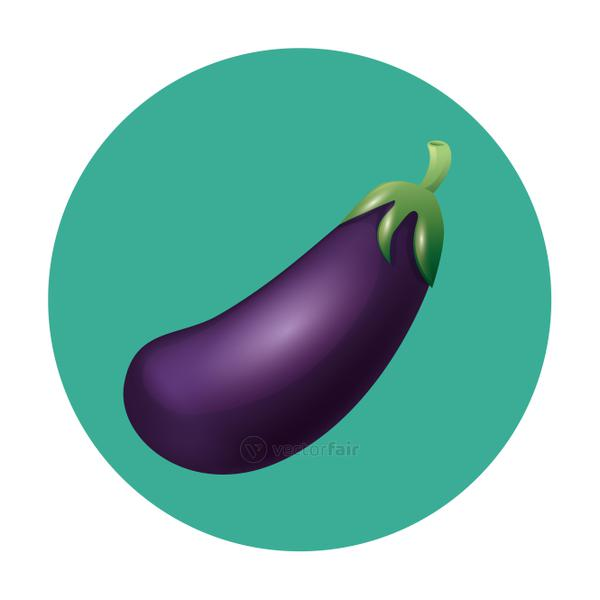 Isolated eggplant vegetable vector design