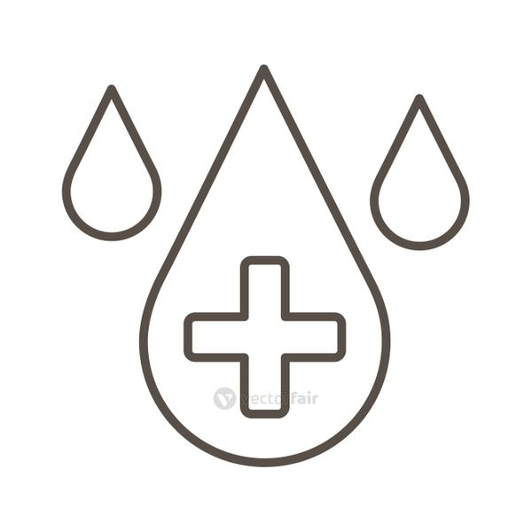 drops with medical cross line style icon