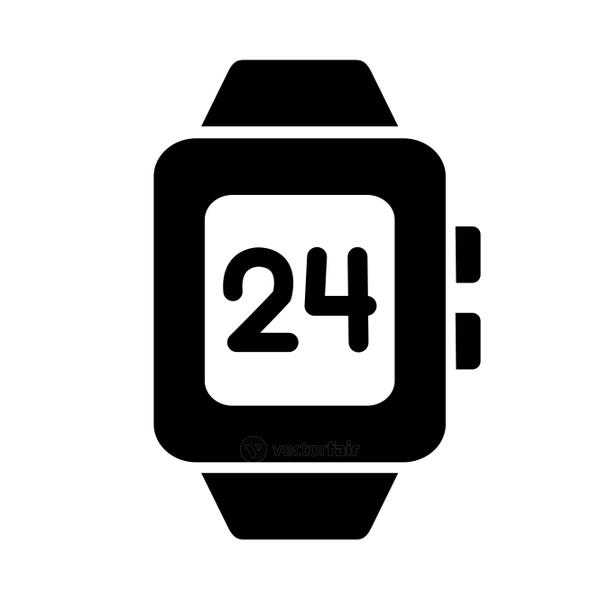smartwatch accessory, silhouette style