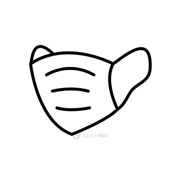 protective medical mask icon, line style