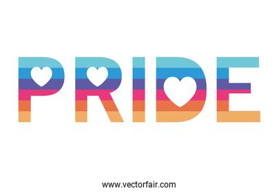 Isolated lgtbi pride text vector design