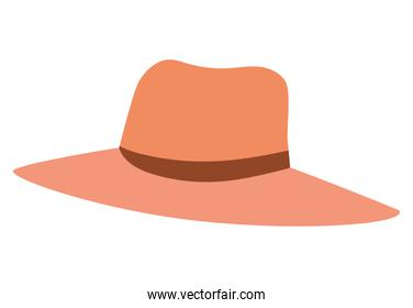 Isolated female hat vector design