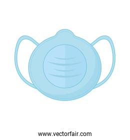 Isolated medical blue mask vector design