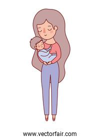 Mother with baby vector design